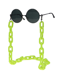 Fashion Yellow Acrylic Non-slip Anti-lost Glasses Chain