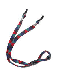 Fashion Triangle Peach Heart Chain Geometric Printed Hemp Rope Glasses Chain