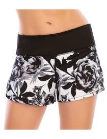 Shorts De Yoga Con Cremallera Deportiva Antideslumbrante Con Costuras Impresas