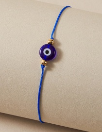 Fashion Blue Braided Rope Eye Resin Anklet