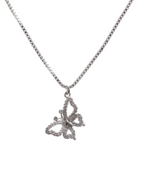 Fashion Golden Micro Zircon Butterfly Pendant Necklace