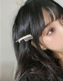 Fashion Hair Comb Diamond Comb Butterfly Combined With Blonde Clip
