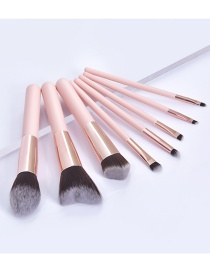 Fashion 8 Skins Wooden Handle Aluminum Tube Makeup Brush Set