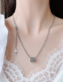Fashion Silver Distressed Coin Dollar Bill Alloy Necklace