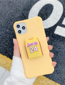 Fashion Jersey Yellow Folding Bracket All-inclusive Silicone Phone Case