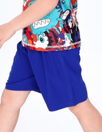 Fashion Royal Blue Childrens Five-point Quick-drying Swimming Trunks