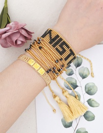 Fashion Suit Gold Rice Beads Hand-woven Eye Letter Bracelet