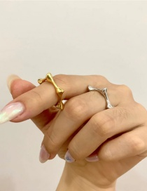 Fashion Golden Stacked Open Star Alloy Ring