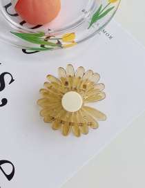 Fashion Yellow Daisy Flower Resin Hit Color Shark Catch
