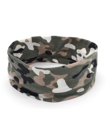 Fashion Armygreen Camouflage Print Sports Yoga Wide Brim Headband