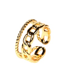 Fashion Ancient Gold Chain Twist Alloy Open Hollow Ring