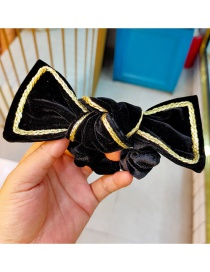 Fashion Black Hair Tie Velvet Butterfly Combined With Blond Rope Hairpin