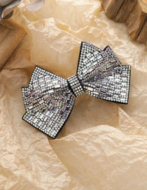 Fashion Black Diamond-studded Butterfly Combined With Blonde Clip