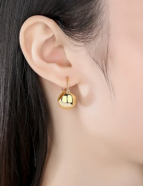 Fashion 18k Gold-plated Copper Round Earrings