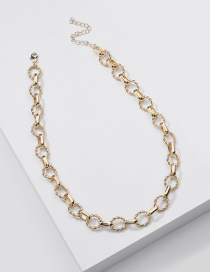 Fashion Gold Color Handmade Twist Chain Alloy Hollow Necklace