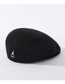 Fashion Black Thin Kangaroo Embroidered Knitted Beret
