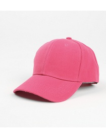 Fashion Rose Red Light Board Solid Color Curved Brim Sunshade Cap