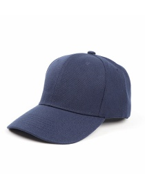 Fashion Navy Blue Light Board Solid Color Curved Brim Sunshade Cap