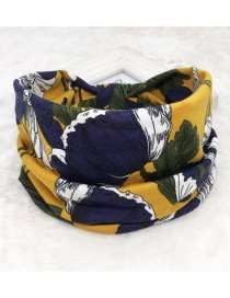 Fashion Flowers Ginger Printed Wide-sided Geometric Stretch Headband