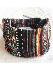 Fashion Stripe Printed Wide-sided Geometric Stretch Headband
