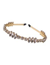 Fashion White Alloy Diamond Geometric Headband