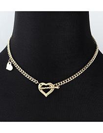 Fashion Golden Love Ot Buckle Alloy Necklace