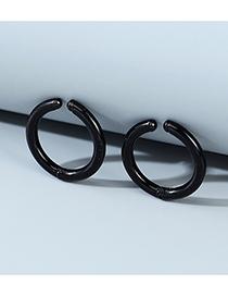 Fashion Black Geometric Resin Mens Earrings