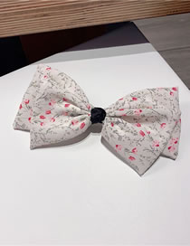 Fashion White Floral Big Bow Fabric Hairpin