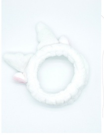 Fashion Antlers White Plush Antlers Three-dimensional Elastic Headband