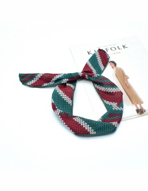 Fashion Green Arrow Wire Pineapple Flower Plaid Printed Bow Wire Headband