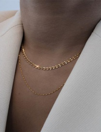 Fashion Twist Chain Hollow Multi-level Wide-sided Geometric Necklace