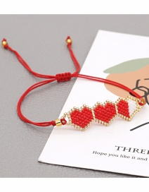 Fashion Miyuki Rice Beads Imported From Japan + Tassels Rice Beads Hand-woven Hit Color Love Bracelet