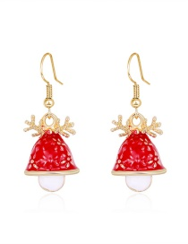 Fashion Color Dripping Christmas Hat Antlers Alloy Earrings