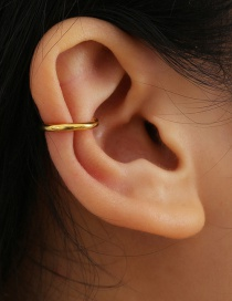 Fashion Gold Color Geometric C-shaped Alloy Ear Clip Without Pierced Ears