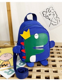 Fashion Blue Nylon Cloth Dinosaur Stitching Childrens Backpack