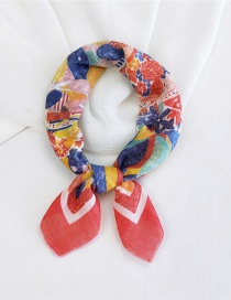 Fashion Cotton Harvest Thin Cotton And Linen Print Small Square Scarf