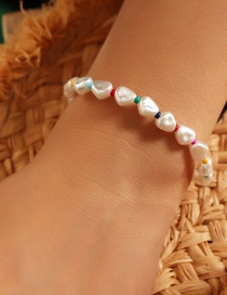 Fashion White Handmade Irregular Pearl Bracelet