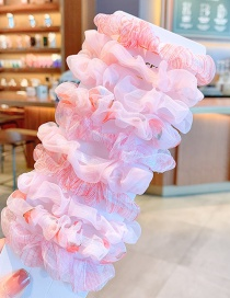 Fashion Pink Series [10 Pieces] Mesh Check Color Childrens Large Intestine Loop Hair Rope