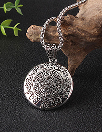 Fashion Titanium Steel Chain With Bagua Constellation Elephant Lotus Movable Long Sweater Chain