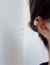Fashion Gold Color (about 1.5cm In Diameter) Geometric Shape Wide Side Non-pierced Ear Bone Clip
