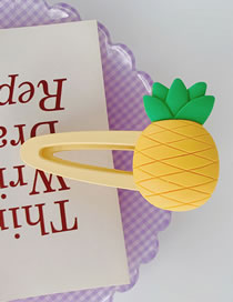 Fashion Pineapple Resin Fruit Hit Color Hollow Frosted Hairpin