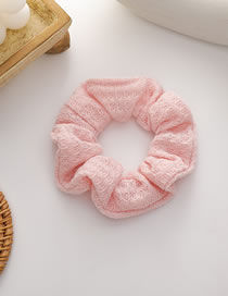 Fashion Pink Waffle Knitted Wool Stitching Large Intestine Loop Hair Rope