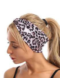 Fashion Pink Leopard Leopard Print Cross Headband
