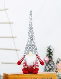 Fashion Sitting Faceless Doll Withgrey Hat Christmas Costume Faceless Old Man Doll Ornaments