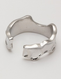 Fashion Irregular Adjustable Alloy Ring With Winding Hollow Opening