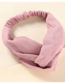 Fashion Pink Striped Fabric Cross Elastic Headband