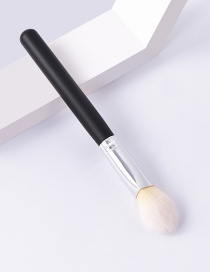 Fashion Single-black And White-triangle Color Makeup Brush With Wooden Handle And Aluminum Tube Nylon Hair