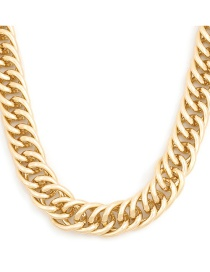 Fashion Gold Color Coloren Chain-like Alloy Thick Chain Necklace