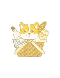Fashion Puppy Bread Puppy Oily Geometric Alloy Brooch
