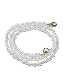 Fashion Golden Real Gold Plated Large Lobster Clasp Pearl Handmade Glasses Chain